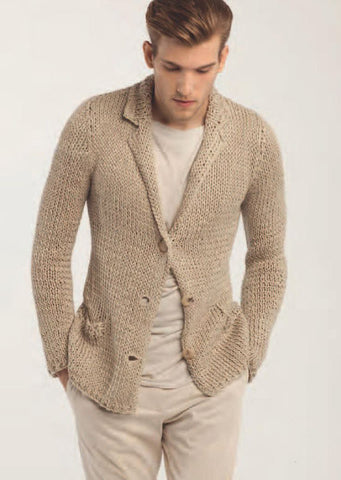 Men's hand knit cardigan 36A
