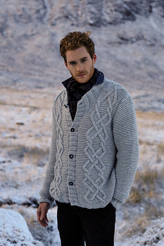Men's hand knit cardigan 31A - KnitWearMasters