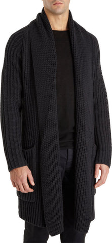 Men's Hand Knit Long Cardigan 30A