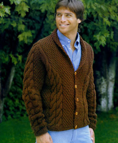 Men's hand knit cardigan 26A - KnitWearMasters