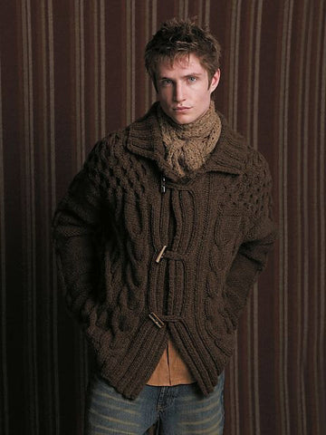 Men's hand knit cardigan 21A - KnitWearMasters