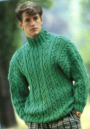 Men's Hand Knit Turtleneck Sweater 113B - KnitWearMasters