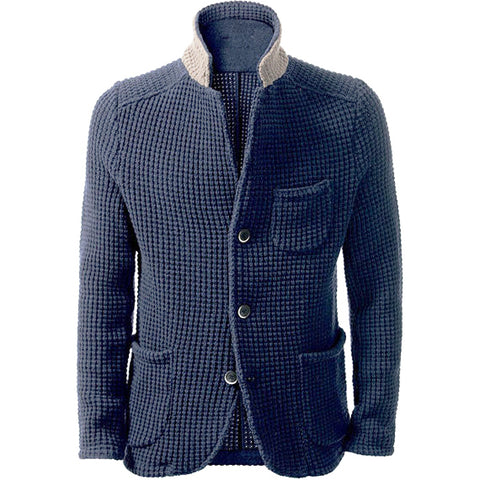 MADE TO ORDER Men hand knit cardigan 140A - KnitWearMasters