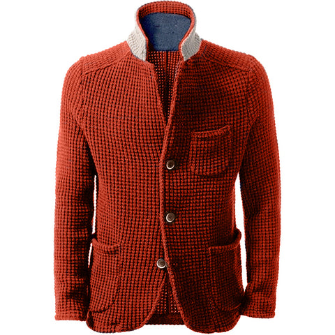 MADE TO ORDER Men hand knit cardigan 139A