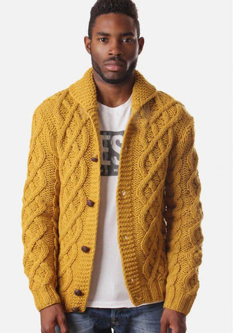 MADE TO ORDER MEN HAND KNIT CARDIGAN 132A - KnitWearMasters