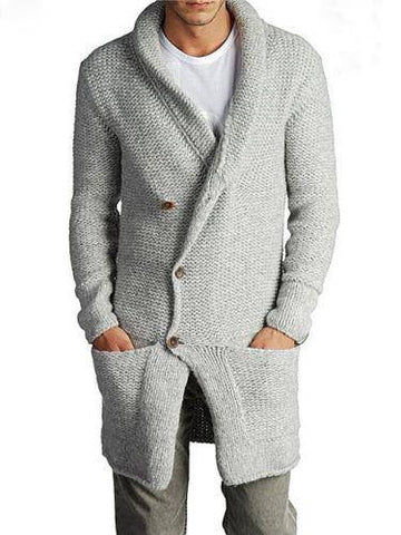 Men's Hand Knit Long cardigan 84A - KnitWearMasters