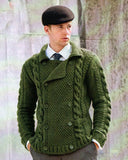 Men's Hand Knit Double Breasted Cardigan 9A - KnitWearMasters