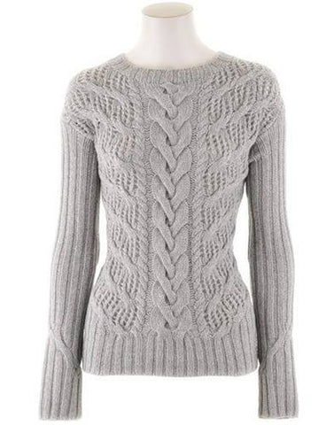 Womens Hand Knit Crew Neck Sweater 33G - KnitWearMasters