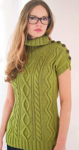 Womens Hand Knit Turtleneck Sweater 40K - KnitWearMasters