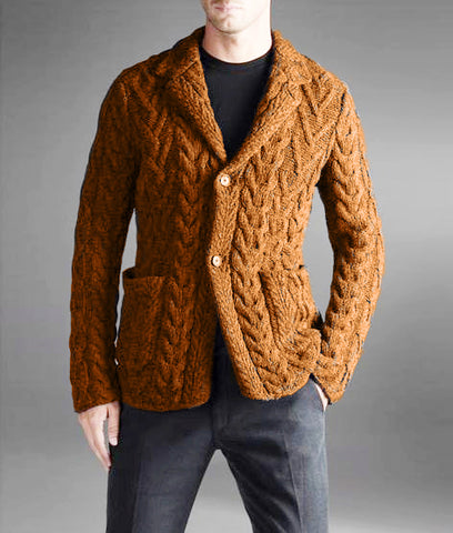MENS HAND KNITTED WOOL CARDIGAN 93A - KnitWearMasters
