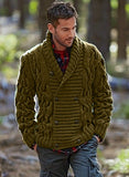 Men Hand Knit Double Breasted Cardigan 78A - KnitWearMasters