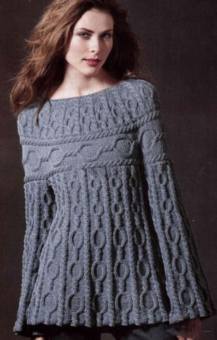 Women's Cable Knit Boatneck Sweater 21C