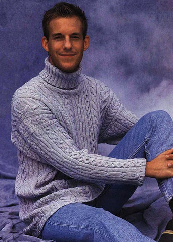 Men's Hand Knit Sweater 73B - KnitWearMasters