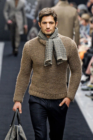 Men's Hand Knit Sweater 101B - KnitWearMasters