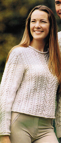 Women's Cable Knit Boatneck Sweater 29C - KnitWearMasters