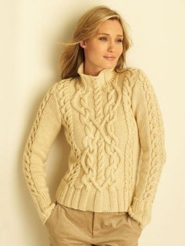 Womens Hand Knit Turtleneck Sweater 54K - KnitWearMasters