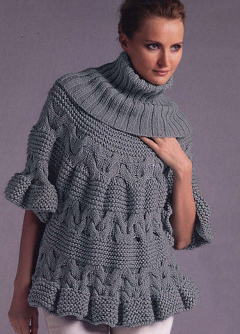 Womens Hand Knit Turtleneck Sweater 22K