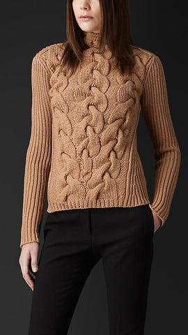 Womens Hand Knit Turtleneck Sweater 35K - KnitWearMasters