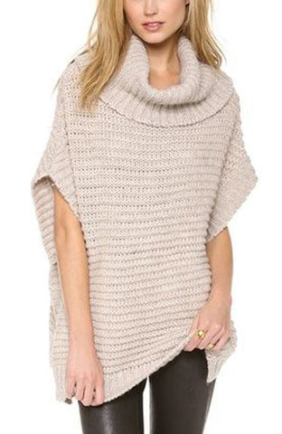 Women's Hand Knit Cowl Neck Sweater 9H - KnitWearMasters