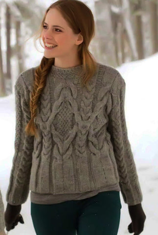 Womens Hand Knit Turtleneck Sweater 31K - KnitWearMasters