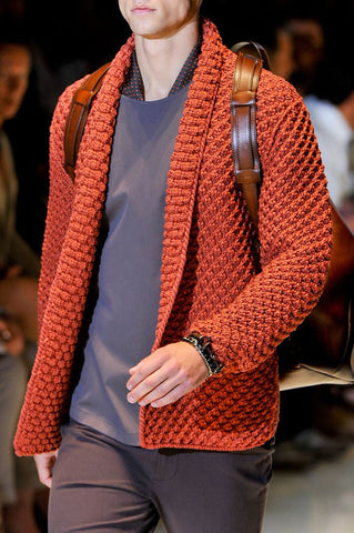 Men Hand Knit Cardigan 80A