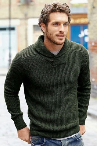 Men's Hand Knit Sweater 108B