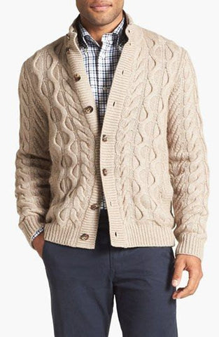 Mens hand knit cardigan 82A