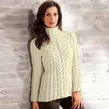 Womens Hand Knit Turtleneck Sweater 41K - KnitWearMasters