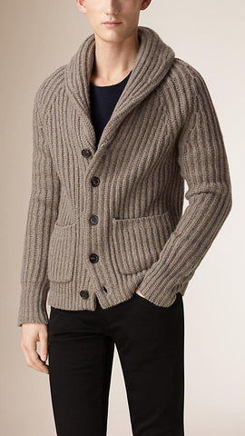 Mens wool hand knit cardigan 44A - KnitWearMasters