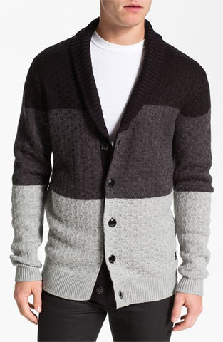 Mens knit wool cardigan 69A