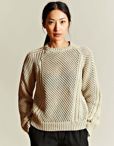 Women's Hand Knit Crew Neck Sweater 6G - KnitWearMasters