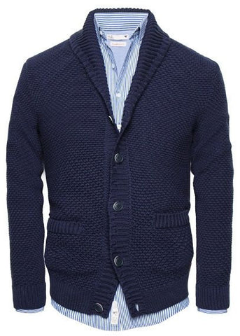 Mens knitted shawl collar cardigan 63A - KnitWearMasters