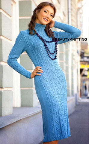 Women's Hand Knitted Dress 17E - KnitWearMasters