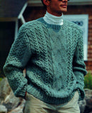 Men's Hand Knit Crew Neck Sweater 265B - KnitWearMasters