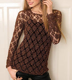 Women Crochet Blouse, 28S - KnitWearMasters