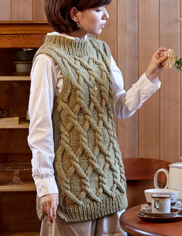 Womens Hand Knit Wool Vest 84N