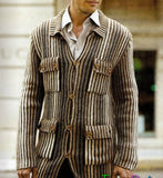 MENS HAND KNIT WOOL CARDIGAN 102A