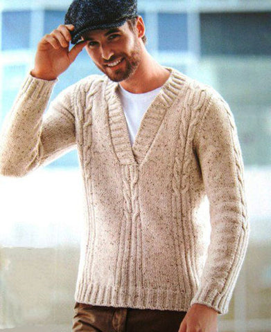 Men's Hand Knit Sweater 200B