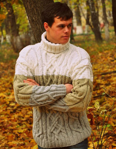 Men's Hand Knit Sweater 176B - KnitWearMasters