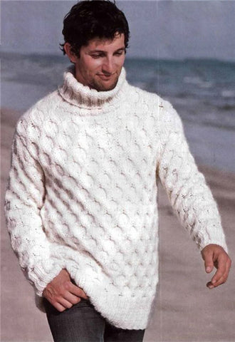 Men's Hand Knit Sweater 178B - KnitWearMasters