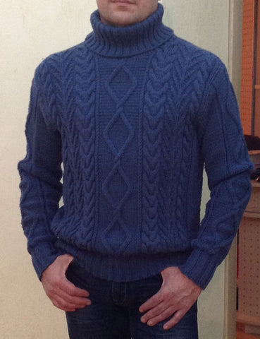 Men's Hand Knit Sweater 180B - KnitWearMasters
