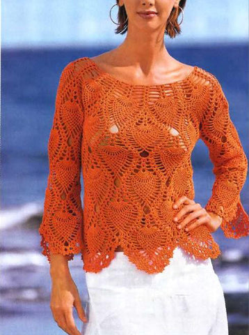 Women Crochet Blouse, 30S - KnitWearMasters