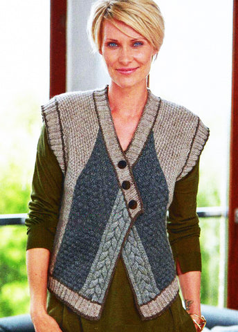 Womens Hand Knit Wool Vest 65N