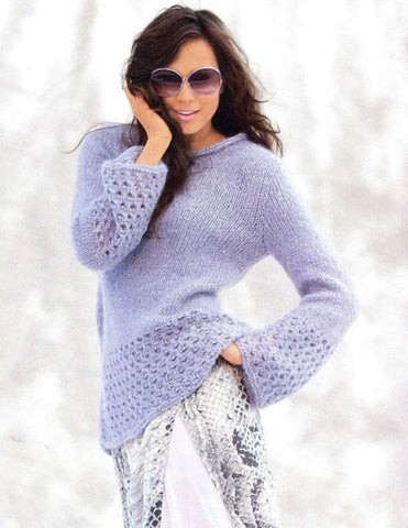 Womens Hand Knit Mohair Sweater 66G