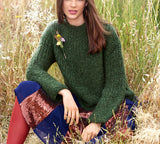 Women's Hand Knit Neck Sweater 63H - KnitWearMasters