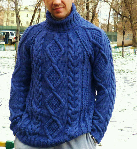Men's Hand Knit Sweater 185B - KnitWearMasters