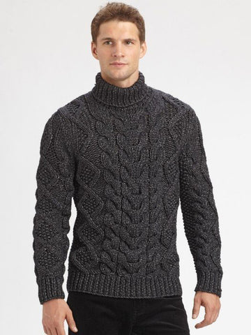 Men's Hand Knit Sweater 186B - KnitWearMasters