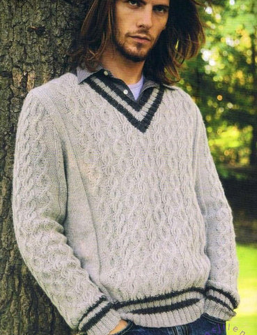 Men's Hand Knit Sweater 202B