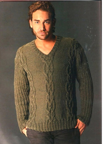 Men's Hand Knit Sweater 204B