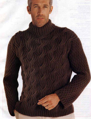 Men's Hand Knit Sweater 190B - KnitWearMasters